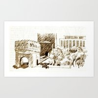 sketch Art Prints featuring sketch by Shelby Claire