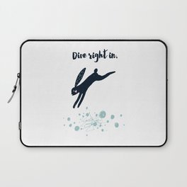 Dive Right In - Black Rabbit Laptop Sleeve