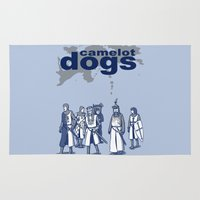 tarantino Area & Throw Rugs featuring Camelot Dogs by Doodle Dojo