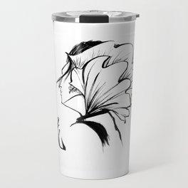 Fashion Ink Portrait illustration Travel Mug