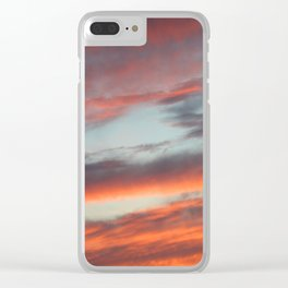 Berkshire Sunset I Clear iPhone Case