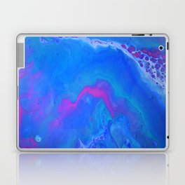 Fantasy II - Bright Sapphire Blue Ultra Violet Purple Fluid Abstract Laptop & iPad Skin