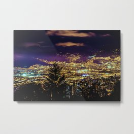 Medellin Night Moves Metal Print