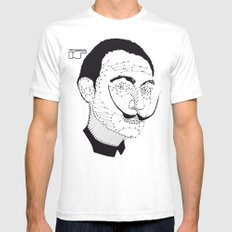 DALI White Mens Fitted Tee SMALL
