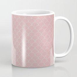 Grunge textured rose quartz small scallop pattern Coffee Mug