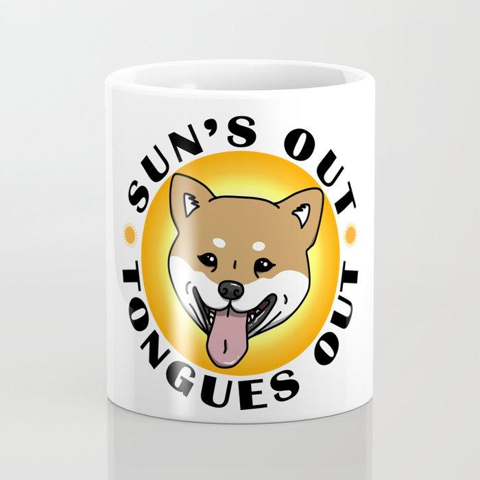 Sun's out - Tongues out (Shiba Inu) Coffee Mug