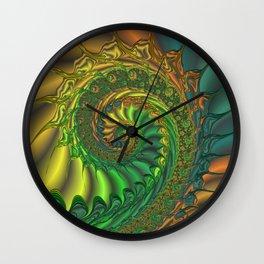 Dragon's Lair - Fractal Art Wall Clock