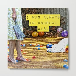 I was Always an Unusual Girl - Jest - NikytaGaia Photography Metal Print