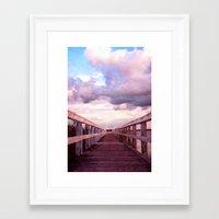 bridge Framed Art Prints featuring bridge by Claudia Drossert