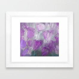 Shades of Lilac Framed Art Print