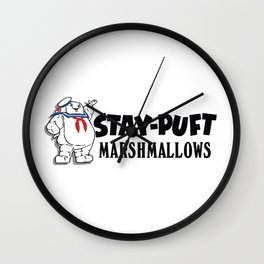 Ghostbusters - Stay Puft Marshmallows  Wall Clock