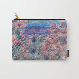 The House among the Roses by Claude Monet Carry-All Pouch