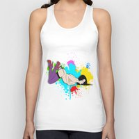 yoga Tank Tops featuring Yoga by Don Kuing