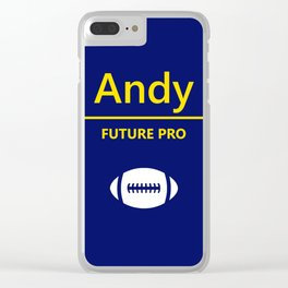 Andy Future Football Player Clear iPhone Case