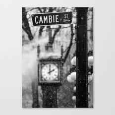Cambie Street (snow) Canvas Print