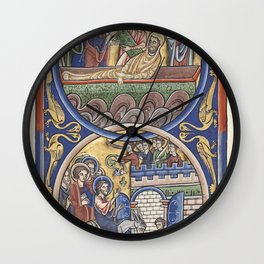 Raising of Lazarus - The Triumphal Entry of Jesus into Jerusalem Wall Clock