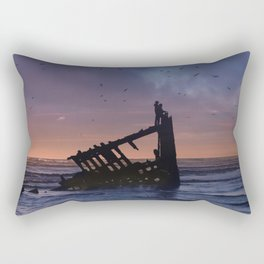 Peter Iredale Shipwreck at Fort Stevens State Park, Oregon. 3 Rectangular Pillow
