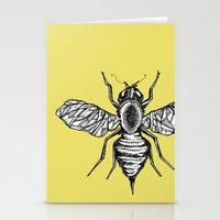 bee Stationery Cards featuring Bee by Aubree Eisenwinter