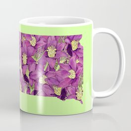South Dakota in Flowers Coffee Mug