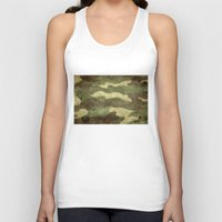 camo Tank Tops featuring Dirty Camo by Bruce Stanfield