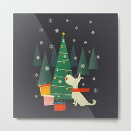 Little White Christmas Westie Metal Print