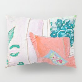 A Room with a View - Pink Armchair by the Window Pillow Sham