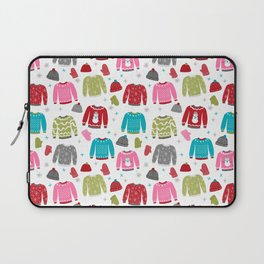 Sweaters festive outfit skiing winter sports cross country ski ugly sweater party Laptop Sleeve