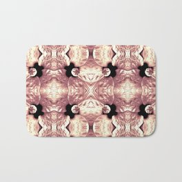 Shiny Old Rose Flower Design, Pattern Bath Mat