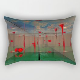 Futuristic Landscape 3D Modeling Sci-Fi Art Rectangular Pillow