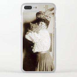 Cat Lady II Clear iPhone Case