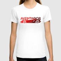 lamborghini T-shirts featuring Lamborghini Aventador - classic red - by Vehicle