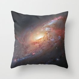 Spiral Galaxy M106 Throw Pillow