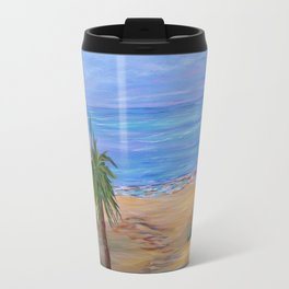 Beach Art, Heading To The Beach, Impressionism art Travel Mug