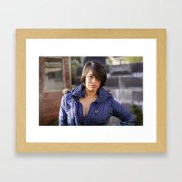 Brunette Temptation Pt.1 Framed Art Print