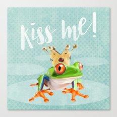 The frog prince Canvas Print