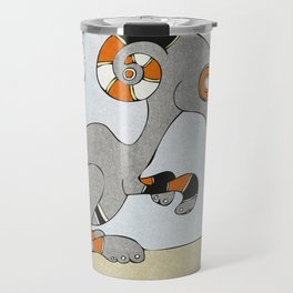 Kangaroo Go-Go Grey Travel Mug