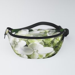 White Hydrangea With Strength And Honor Fanny Pack