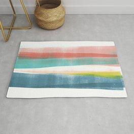 Colorful Geometric Abstract Minimalist Monotype Rug