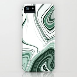 Bold Green Agate Stone Effect Design iPhone Case
