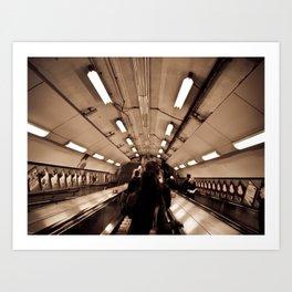 Underground. Art Print