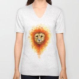 Gesture Lion with Mane Unisex V-Neck