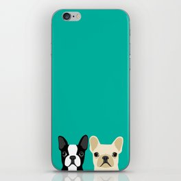 Boston Terrier & French Bulldog 2 iPhone Skin