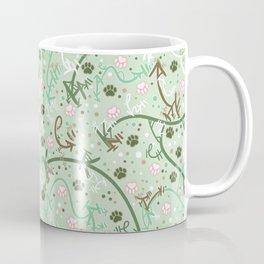 Mint Chip Paw Prints Coffee Mug