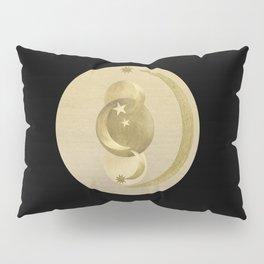 Black Gold Moon and Stars #1 #decor #art #society6 Pillow Sham
