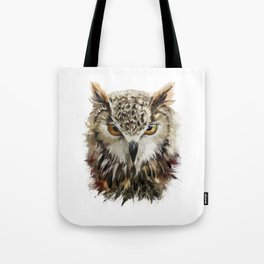 Owl Face Grunge Tote Bag