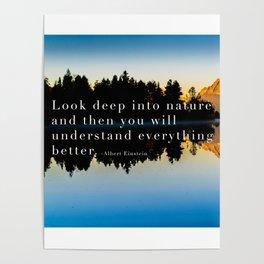 Einstein Quote On Nature Poster