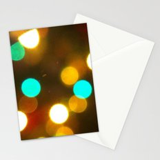 Lights-Green and yellow Stationery Cards