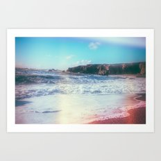 California Sunshine Waves Art Print