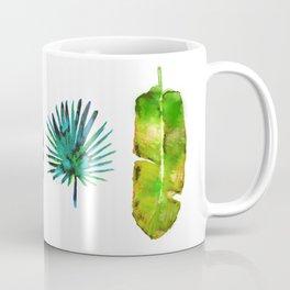 Four Tropical Leaves Coffee Mug