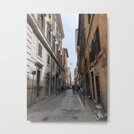 Roman Alley Metal Print